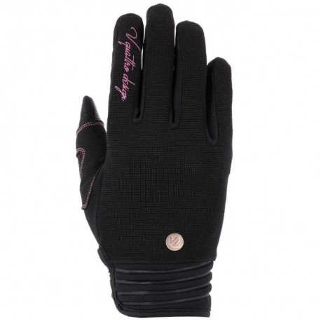 GUANTES V4 DISTRICT 18 LADY NEGRO ROSA