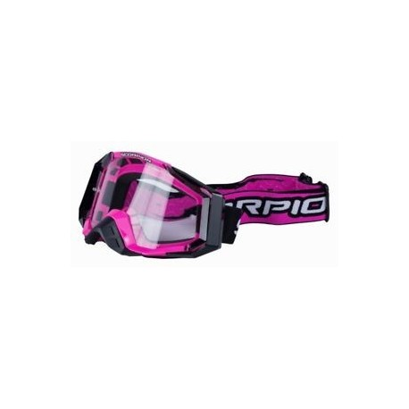 GAFAS CROSS SCORPION ROSA NEGRO E18
