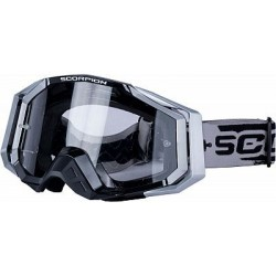 GAFAS CROSS SCORPION PLATA NEGRO E18