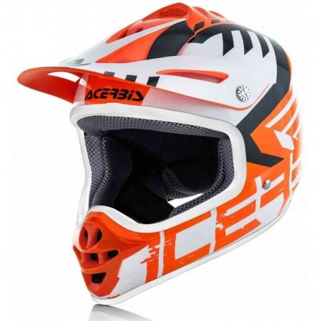 CASCO ACERBIS IMPACT JUNIOR 3.0 NARANJA BLANCO
