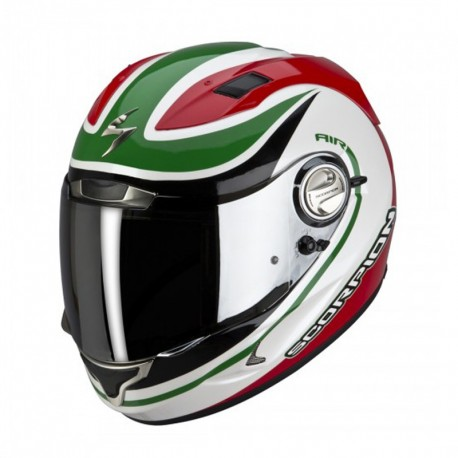 CASCO SCORPION EXO 1000 E11 PATRIOT BLANCO ROJO VERDE