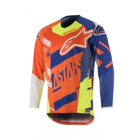 JERSEY ALPINESTARS TECHSTAR SCREAMER NARANJA AZUL AMARILLO