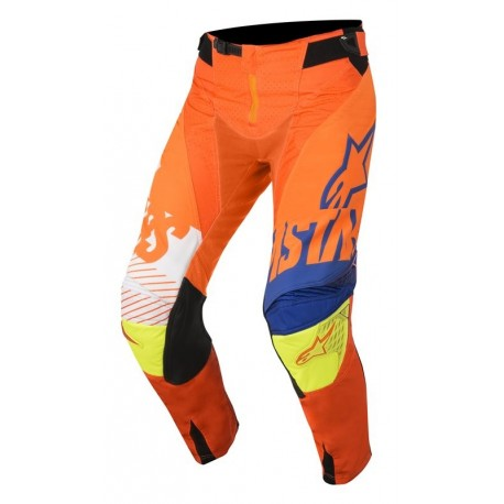 PANTALON ALPINESTARS TECHSTAR SCREAMER NARANJA AZUL AMARILLO