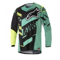 JERSEY ALPINESTARS TECHSTAR SCREAMER NEGRO AZUL AMARILLO