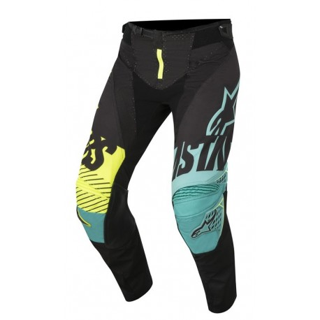 PANTALON ALPINESTARS TECHSTAR SCREAMER NEGRO AZUL AMARILLO