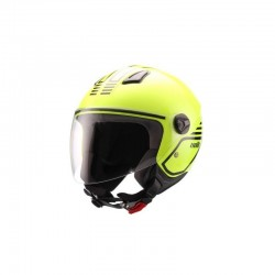 CASCO UNIK JET CJ-16 MODE AMARILLO FLUOR NEGRO