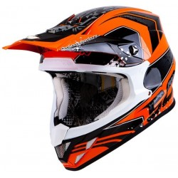 CASCO SCORPION VX20 QUARTZ NEGRO NARANJA
