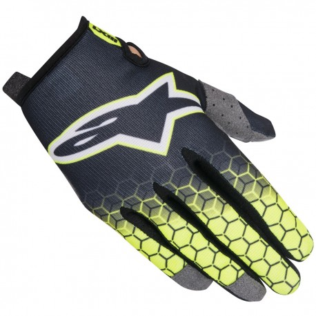 GUANTES ALPINESTARS RADAR FLIGHT ANTRACITA AMARILLO FLUOR GRIS