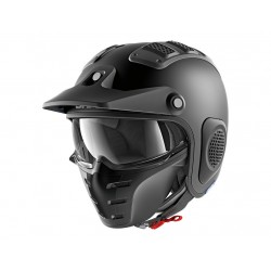 CASCO SHARK X-DRAK NEGRO MATE