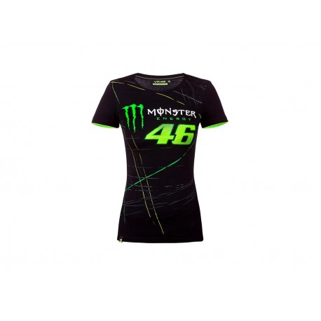 CAMISETA VALENTINO MONSTER VR46 LADY NEGRO
