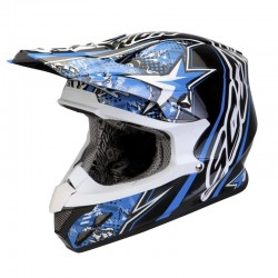 CASCO SCORPION VX20 WIN WIN AZUL NEGRO BLANCO