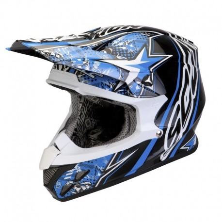 CASCO SCORPION VX20 WIN WIN AZUL/NEGRO/BLANCO