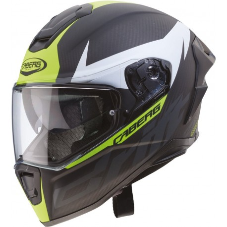 CASCO CABERG DRIFT EVO CARBON ANTRACITA AMARILLO FLUOR
