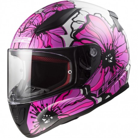 CAPACETE LS2 FF353 RAPID POPPIES ROSA