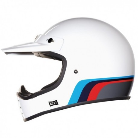 CASCO NEXX X.G200 ROK´ON BLANCO ROJO AZUL