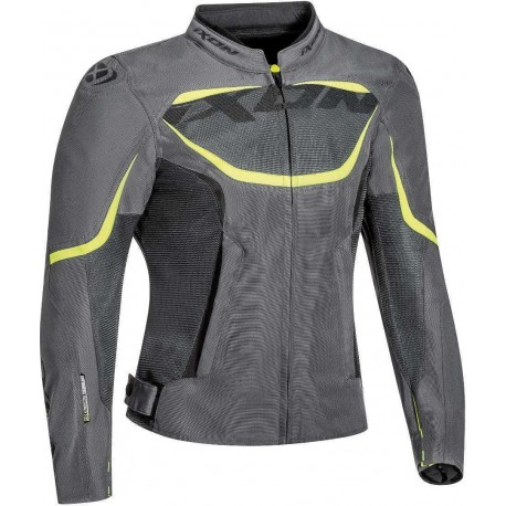 CHAQUETA IXON SPRINTER AIR LADY GRIS AMARILLO FLUOR