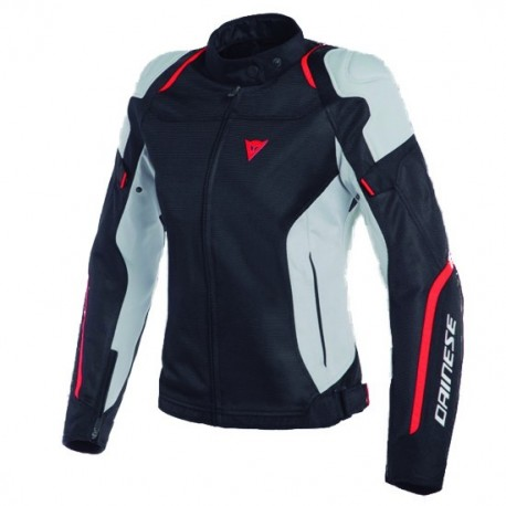 CHAQUETA DAINESE AIR MASTER LADY TEX NEGRO GRIS ROJO FLUOR