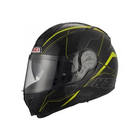 CASCO NZI COMBI 2 DUO GRAPHICS SWORD NEGRO AMARILLO FLUOR