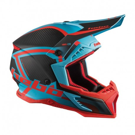 CASCO HEBO ENDURO MX LEGEND CARBON TURQUESA