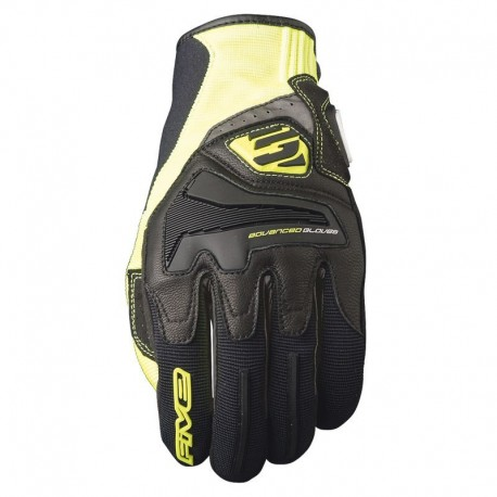GUANTE FIVE 5 RS4 NEGRO AMARILLO