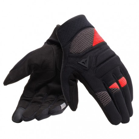 GUANTES DAINESE FOGAL NEGRO ROJO