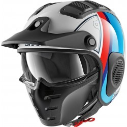 CASCO SHARK X-DRAK TERRENCE BLANCO AZUL ROJO