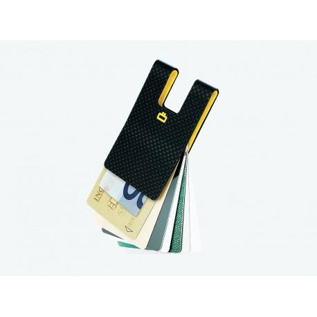 i3C Carbon Card Clip (Policarbonato, efeito em fibra de carbono)