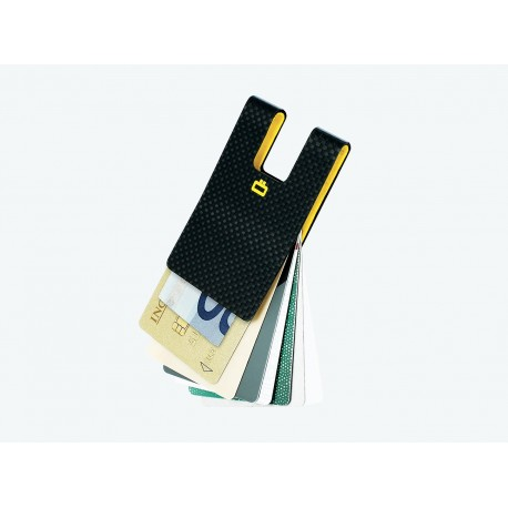 i3C Carbon Card Clip (Policarbonato, efecto fibra de carbono)