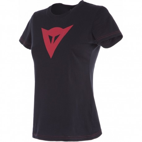 CAMISETA DAINESE SPEED DEMON LADY NEGRO ROJO