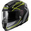 CASCO LS2 FF397 FT2 VECTOR VANTAGE NEGRO MATE AMARILLO