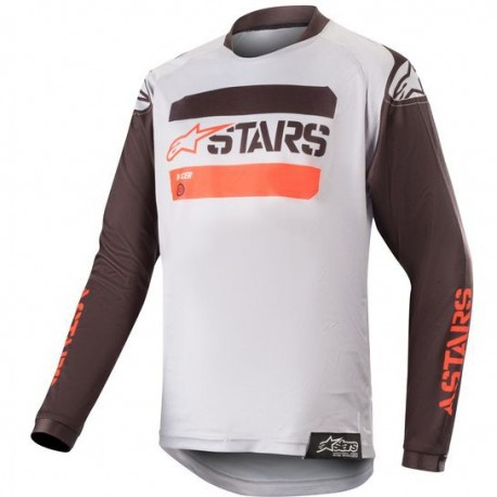 JERSEY ALPINESTARS YOUTH RACER TACTICAL NEGRO GRIS ROJO FLUOR