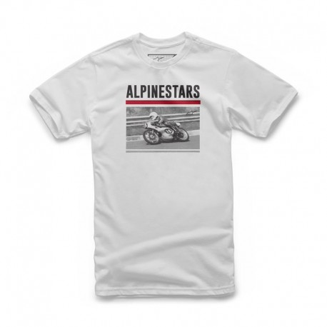 T-SHIRT ALPINESTARS RECORDED BRANCO