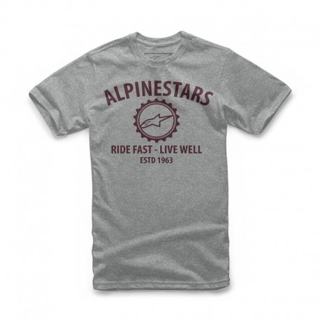 CAMISETA ALPINESTARS BIG GEAR GRIS