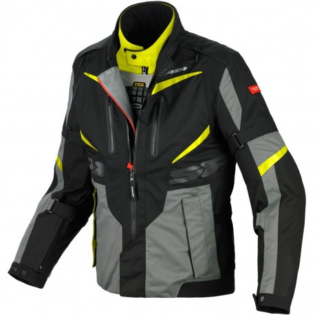 CHAQUETA SPIDI X-TOUR H2OUT NEGRO AMARILLO