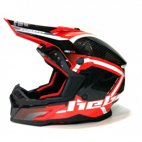 CASCO HEBO ENDURO MX LEGEND CARBON ROJO