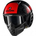 CASCO SHARK DRAK TRIBUTE RM NEGRO ROJO