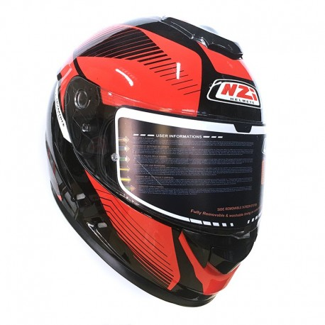 CASCO NZI SYMBIO DUO GRAPHICS INDY NEGRO ROJO