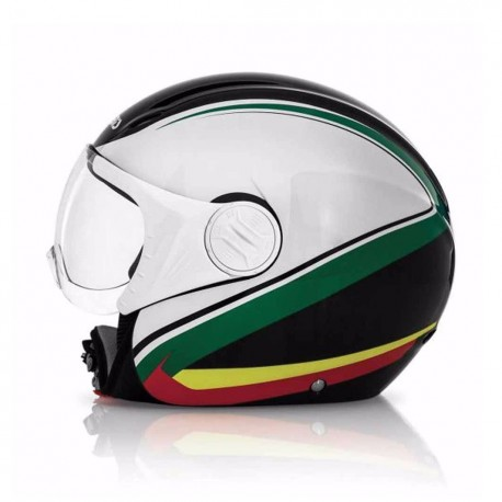 CASCO ACERBIS X-JET ON BIKE NEGRO BLANCO