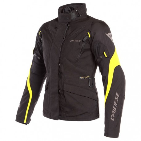 CASACO DAINESE TEMPEST 2 LADY DDRY PRETO AMARELO FLUOR