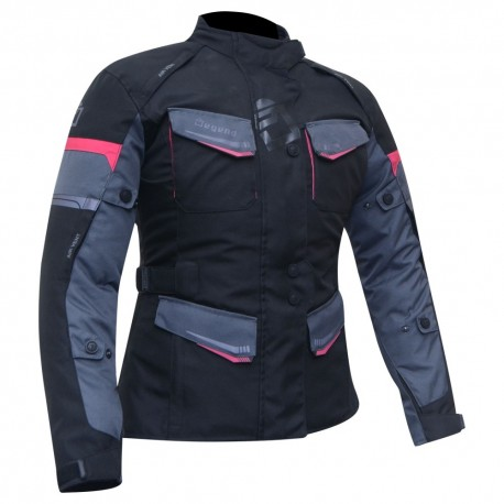 CHAQUETA DEGEND TRAVEL LADY NEGRO GRIS ROSA