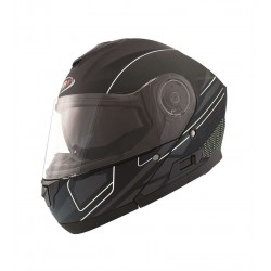 CASCO SHIRO SH507 MILE NEGRO MATE BLANCO