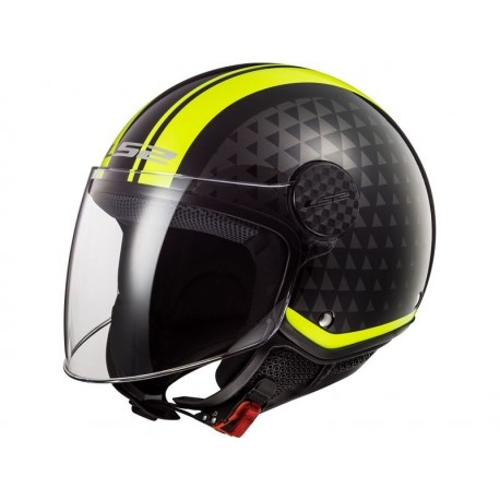 CASCO OF558 SPHERE LUX CRUSH NEGRO AMARILLO FLUOR