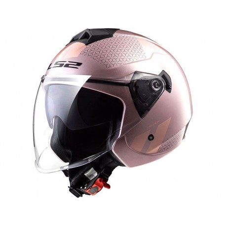 CASCO LS2 OF573 TWISTER II COMBO ROSA