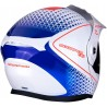 CASCO SCORPION ADX1 HORIZON BLANCO ROJO AZUL