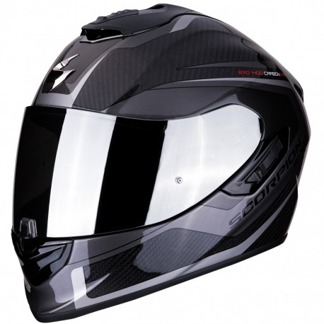 CASCO SCORPION 1400 AIR CARBON ESPRIT NEGRO PLATA