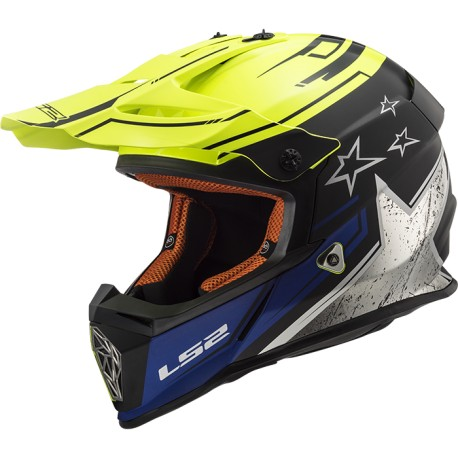 CASCO LS2 MX 437 FAST CORE AMARILLO FLUOR
