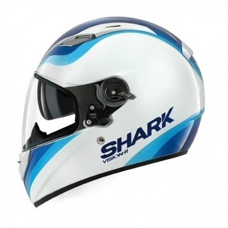 CAPACETE SHARK VISION-R PIXY BRANCO AZUL WBB