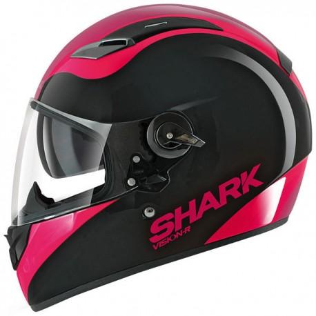 CAPACETE SHARK VISION-R PIXY PRETO ROSA KVP