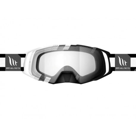 GAFAS MT MX EVO STRIPES NEGRO BLANCO