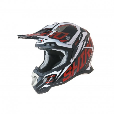 CASCO SHIRO MX-917 THUNDER ROJO